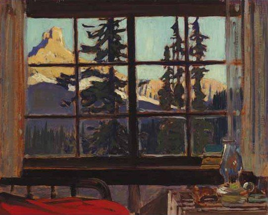 "J.E.H. MacDonald (1873-1932) - ""Morning, Mountain Camp"" (Cathedral Peak from O'Hara Camp) - Oil."