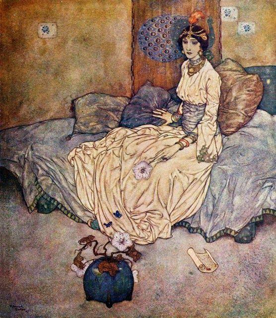 """PEACOCK'S GARDEN: Edmund Dulac """"The Princess Deryabar"""""""