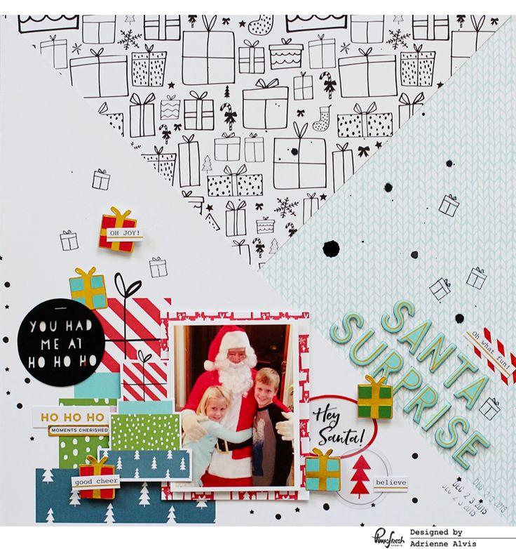 Santa Surprise layout by Adrienne Alvis – Pinkfresh Studio