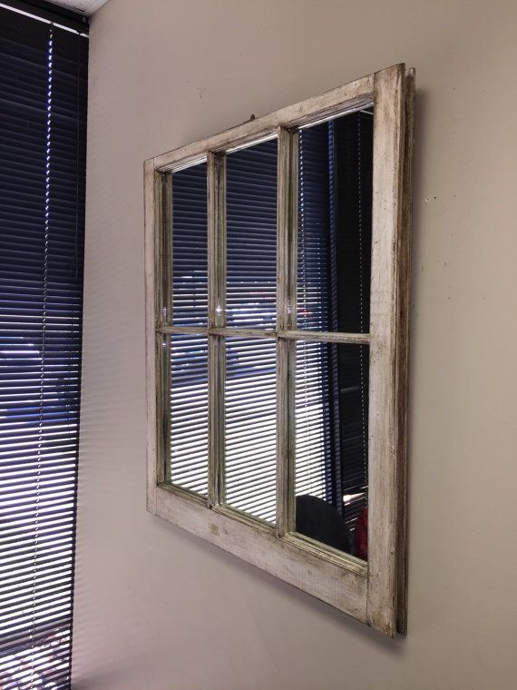 White Window Pane Mirror Mirror Old Window Mirror White