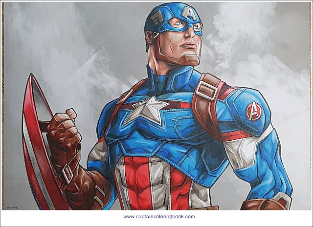 - Pin On Captain America Kids Coloring Book. Professional Coloring Series