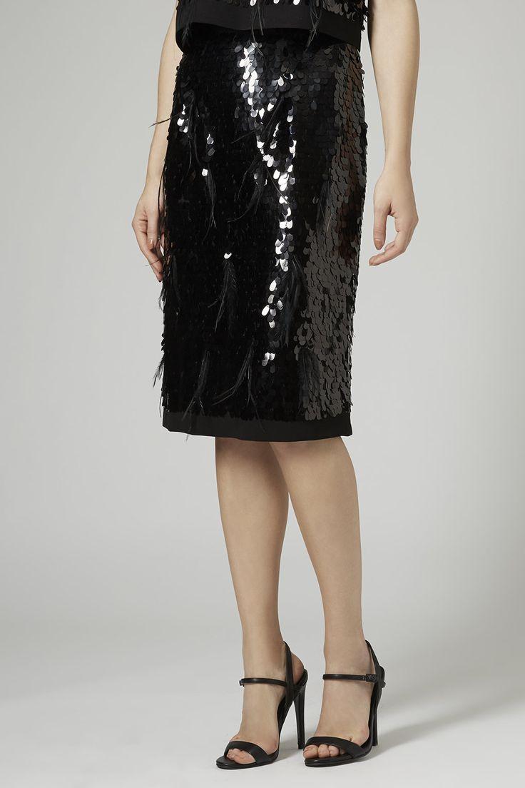 Фото 3 Limited Edition Sequin перо юбка-карандаш