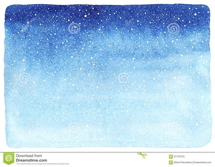 Winter Watercolor Gradient Background With Falling Snow Texture. - Download From Over 53 Million High Quality Stock Photos, Images, Vectors. Sign up for FREE today. Image: 61797575