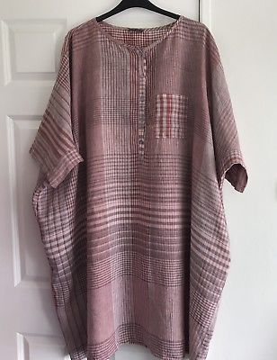 OSFA-Oska-Linen-Tunic-Dress-Oversized-Lagenlook-80in-Chest