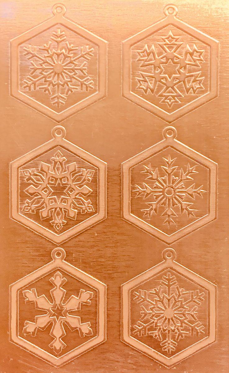 Classic Snowflake Earrings 2 Copper Pattern Pressing 2 1 2 X 4 Metal Maven Snowflake Earrings Snowflake Pendant Copper