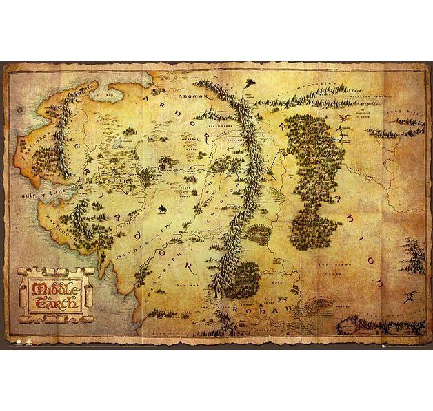 The Hobbit Poster Karte von