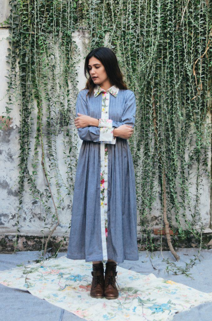 """The micro checkeredtunic is crafted fromwoven cotton, with more than200 pin-tucks and contrast floral trims. STYLE TIP: it doesn't come with instructions,wear it as a shirt, dress or jacketDETAILS -100% Cotton-A line 
