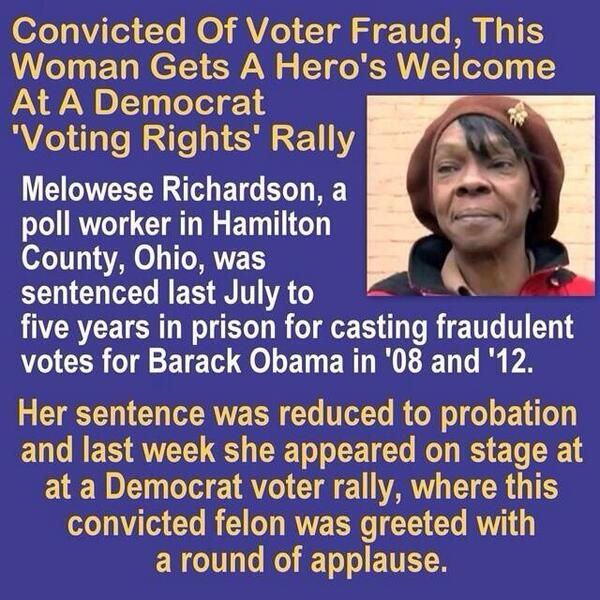 Democrats show everyone what's important to them. Rally behind the criminals and damn (vb) justice. It was obvious at the time that Obama did NOT win the election. The fraud was rampant and they applaud that they got away with it.