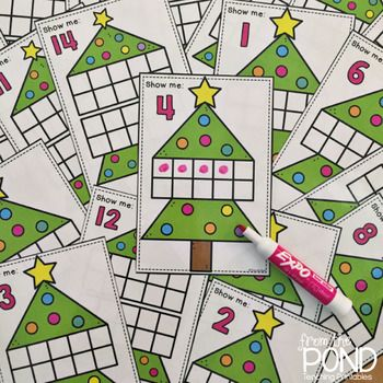 Make Christmas Math fun with these Christmas Tree 10 & 20 Frame activity cards! This packet is included in my December Frames Bundle This packet will allow you to print and make an activity card set to help your