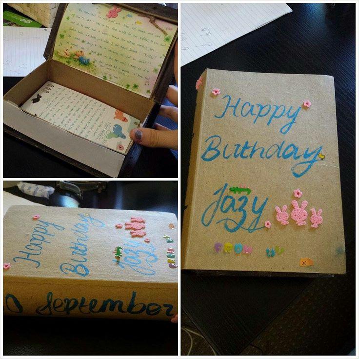 DIY letter from my boyfriend last year ^_^ So much effort, thank you so much <3