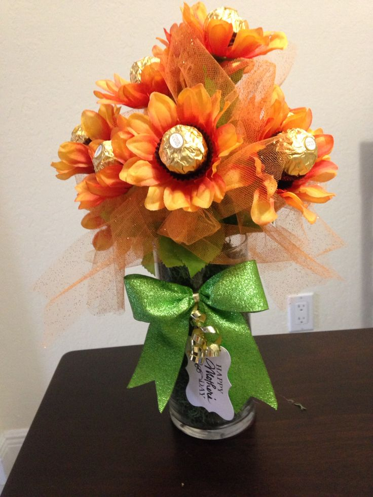 Chocolate bouquet for a gift