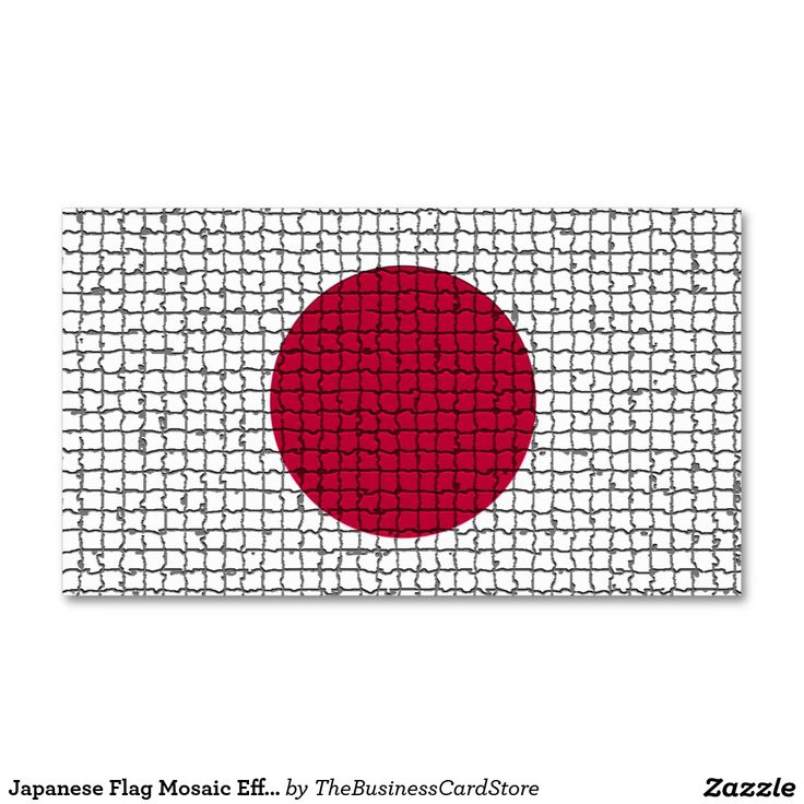 Japanese Flag Mosaic Effect Japan Business Card