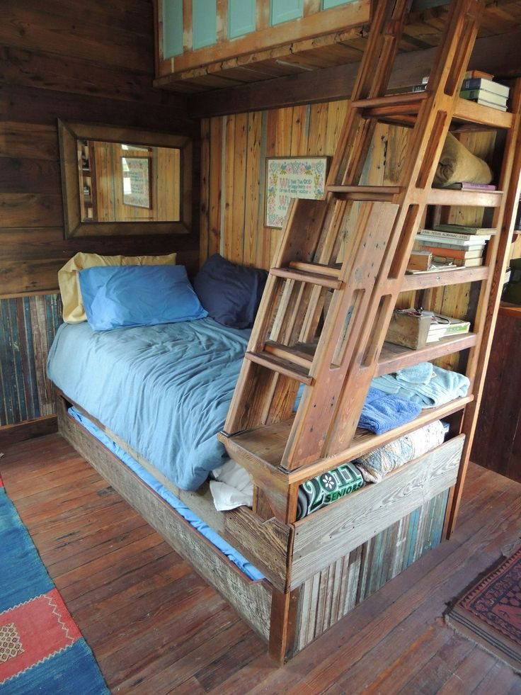 17 best images about tiny house sleeping on pinterest for Tiny house with 2 sleeping lofts