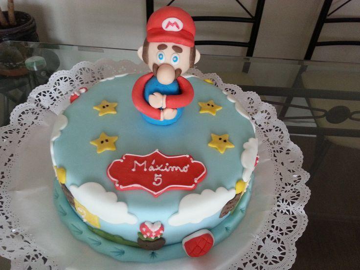 Torta de Mario Bros de panqueque