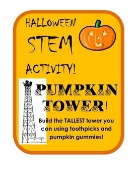 Challenge your students to build the TALLEST tower they can out of pumpkin gummy candies and toothpicks! What better to do on a crazy holiday day than science! Keep students engaged, occupied and learning with this simple STEM activity. Recording sheet included for students to analyze their structures.