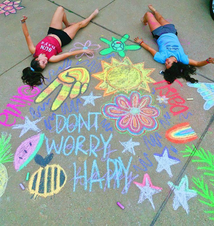 Vsco Pinterest Oliviablesi With Images Sidewalk Chalk Art