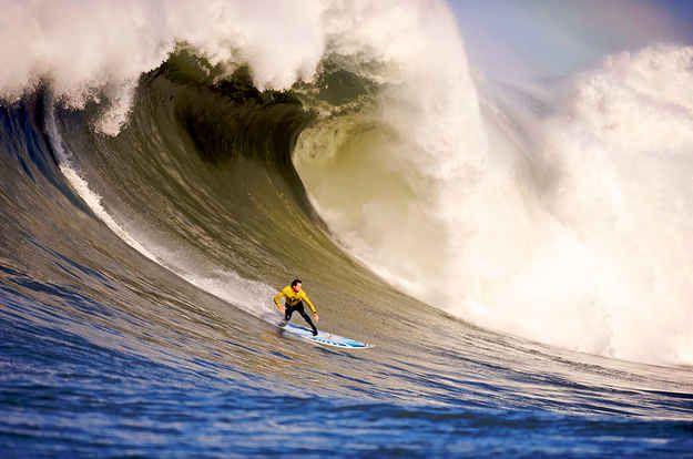 The monster waves of Mavericks, California.