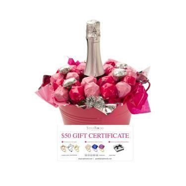 StyleRock Pink & Silver Sparkles, AU$76.50 from Lollypotz.com.au #valentinesday #birthday #mothersday #anniversarygift #jewellery #chocolatebouquet #sparklingwine