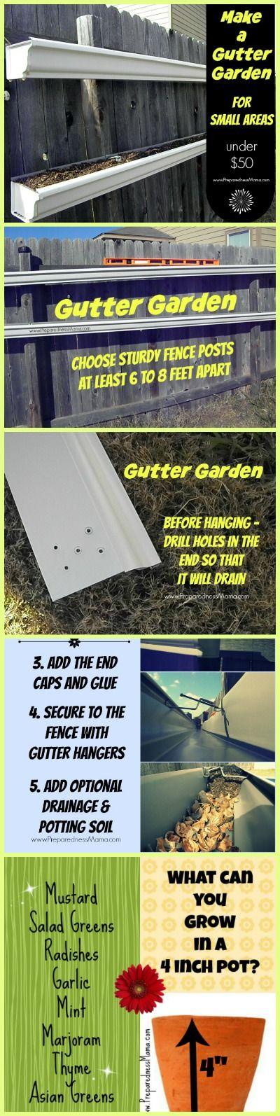 DIY gutter garden instructions. You'll be surprised what you can grow! | PreparednessMama