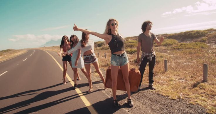Image result for hitchhiking in group
