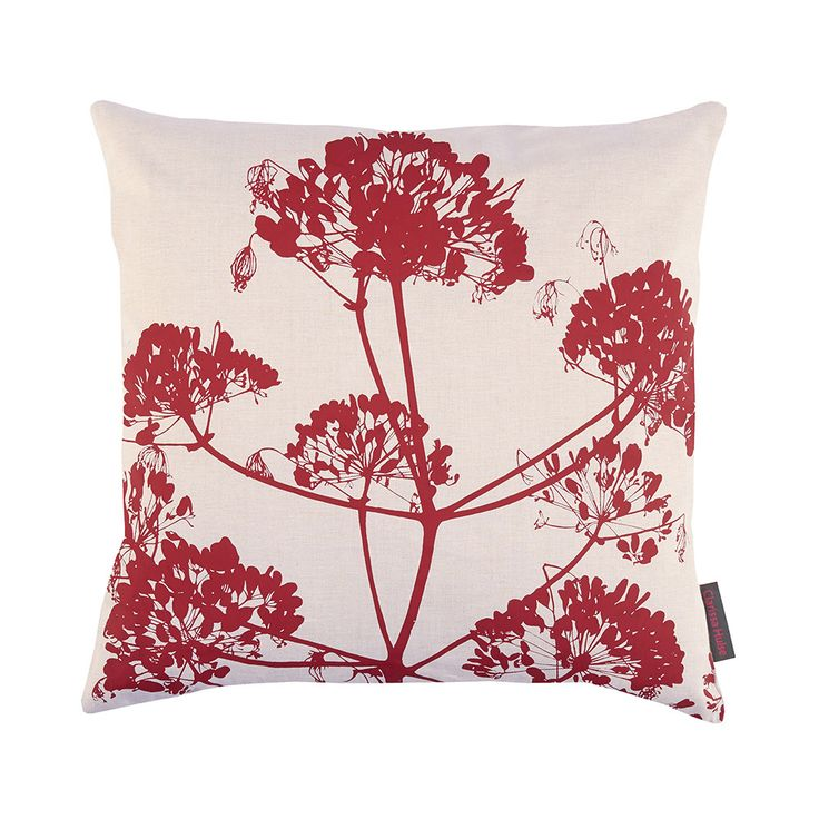 Discover the Clarissa Hulse Angelica Cushion - 60x60cm - Natural/Flame at Amara