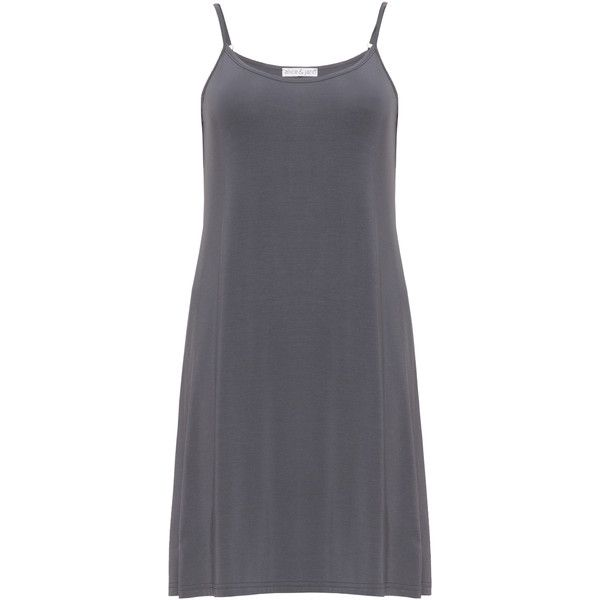Alice und Jann Anthracite Plus Size Stretch jersey night dress ($83) ❤ liked on Polyvore featuring intimates, sleepwear, nightgowns, anthracite, plus size, plus size sleep wear, plus size nightgowns, plus size sleep gowns, plus size sleepwear and sleeveless nightgowns