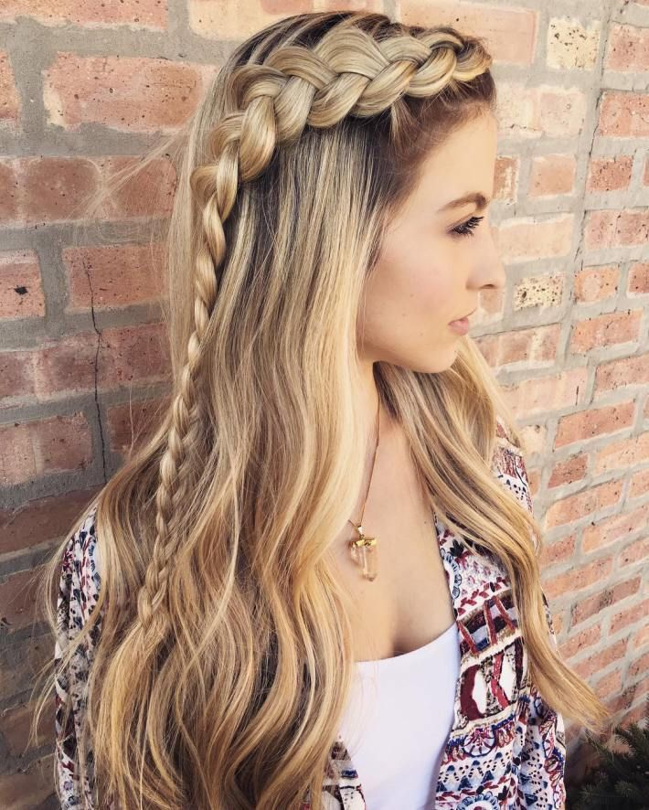 cute braid styles for long hair 17 best ideas about easy braided hairstyles on 8734 | a2d085e7f93f5e1068f8f0b157209e58