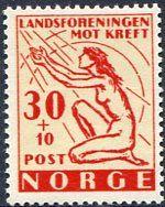 Francobolli - Lotta contro il cancro - Fight against cancer - Stamps  Norvegia 1953
