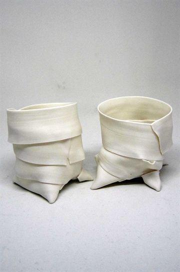Fyrfadsstage i porcelæn af Helle Hansen