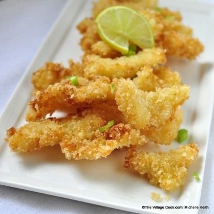 homemade cracked conch. I substituted crushed corn flakes for the Panko and serve it with mango/peach salsa.