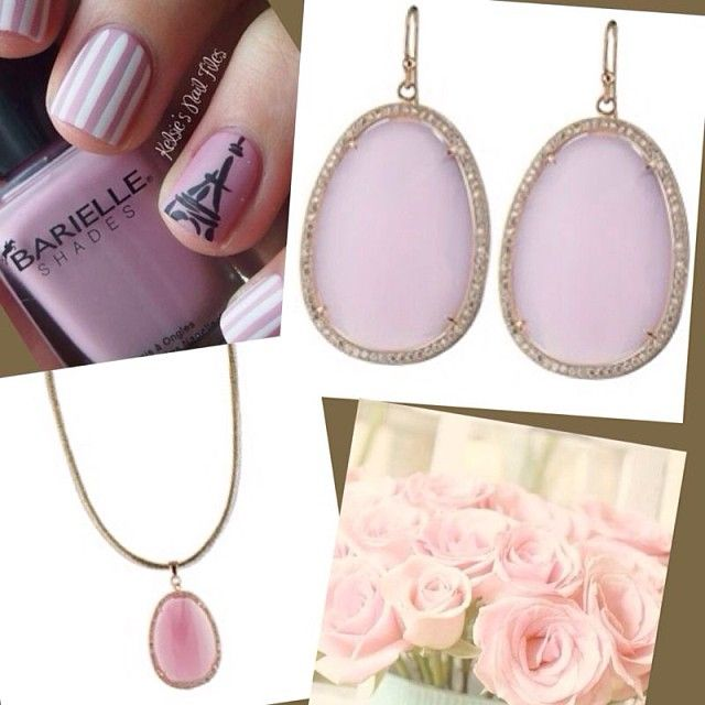 Oxette Style..! Powdered pink jewellery available here: http://www.oxette.gr/collection/couture/?srt=2  #oxette #necklace #earrings