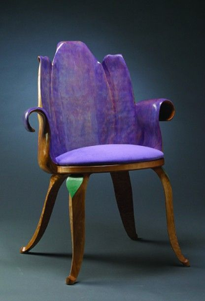 Clever Accent Chair In Otherwise Traditional Room  Eric Freyer Lavender  Tulip Chair Furniture H X W X D