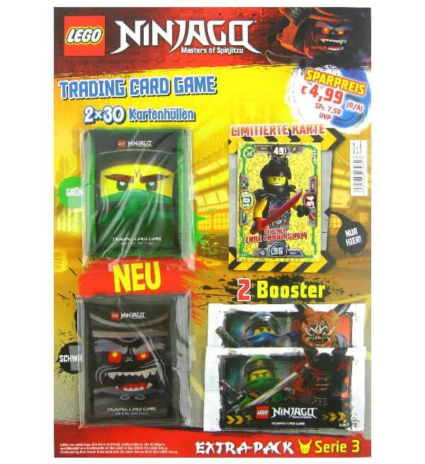 Lego Ninjago Serie 3 Trading Cards Extra Pack Lego Ninjago Lego Und Karten