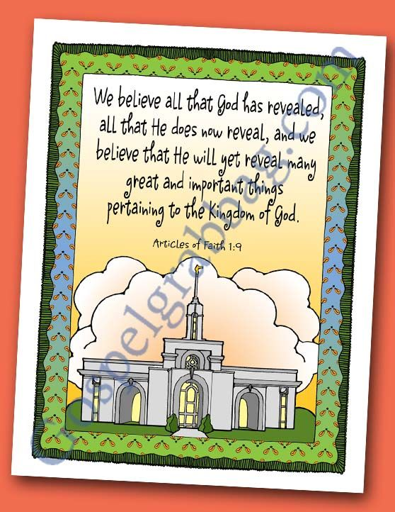 Revelation Plan Of Salvation Prayer Scripture Poster Articles Of Faith 1
