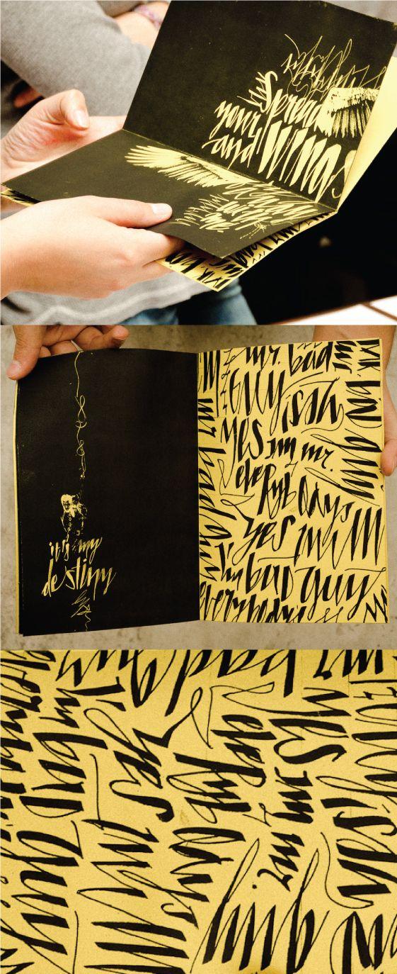 Mr. Bad Guy - Calligraphy Project by Carolina Marando, via Behance