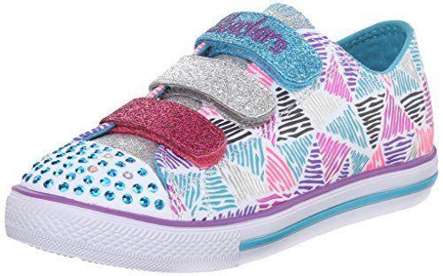 Skechers Kids Chit Chat-Sparkle Express Light-Up Sneaker (Little Kid), White/Multi, 12 M US Little Kid - http://all-shoes-online.com/skechers-kids/skechers-kids-twinkle-toes-prolifics-light-up-kid-94