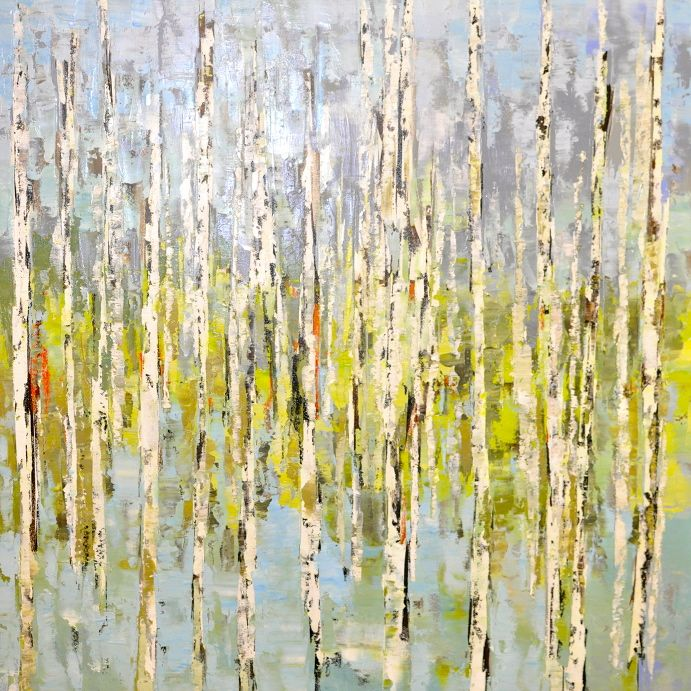 Sara Cameli - Birch Trees and Green
