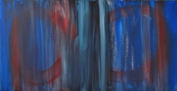 Pain Release by Ange Hart. A Painting of the Process Accelerator product Pain Release. Acrylic on canvas.