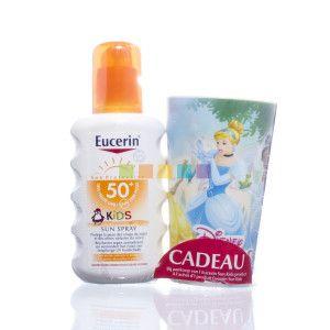 Eucerin Kids Sun Spray SPF 50+ is een formule om de gevoelige huid van kinderen te beschermen tegen zonnebrand en biedt een biologische celbescherming om het risico van huidbeschadiging door uv-stralen op de lange termijn te verminderen. Beschikbaar bij je online apotheek pharmamarket.