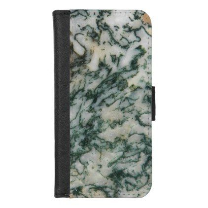 Green Tree Agate Pattern iPhone 8/7 Wallet Case - photography gifts diy custom unique special