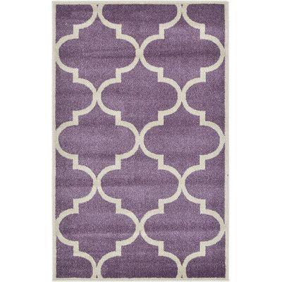 Unique Loom Trellis Purple Area Rug & Reviews | Wayfair