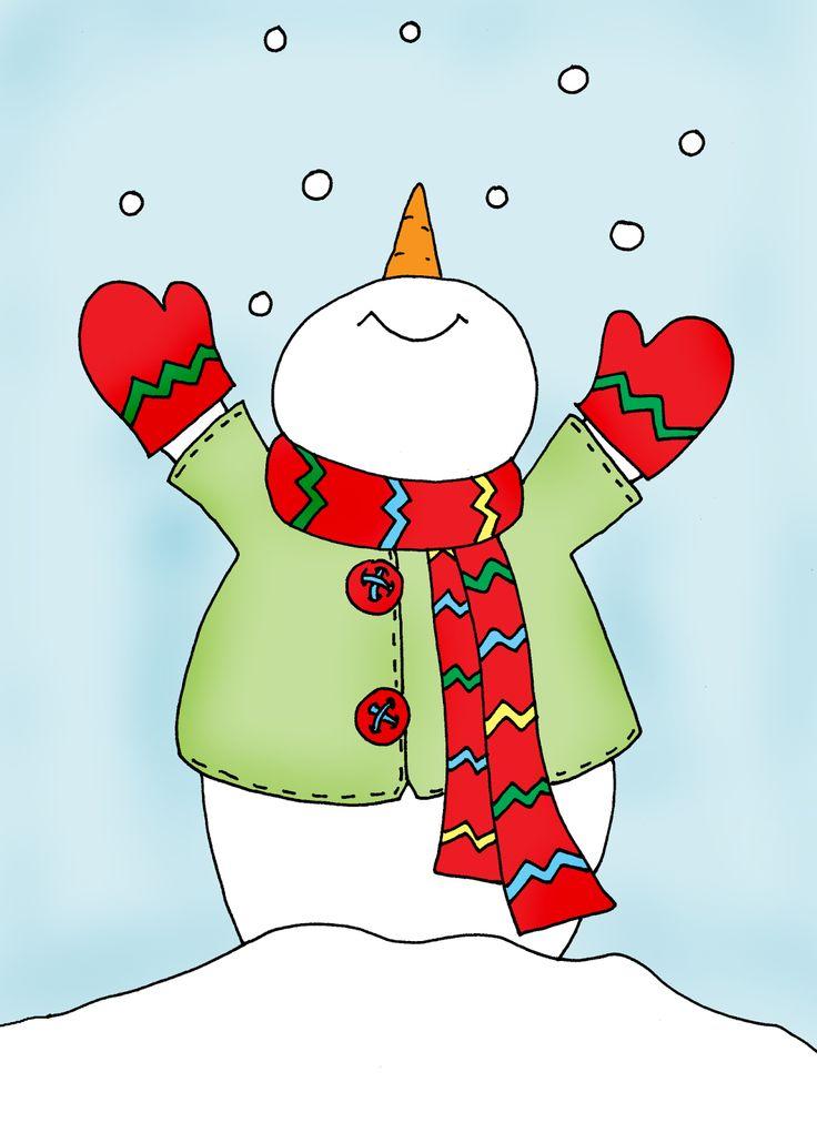 Free Dearie Dolls Digi Stamps: Let it Snow!