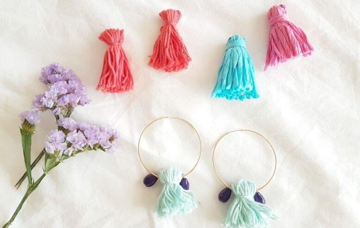 #DIY pendientes de borlas. Treintamasdiez - Blog de moda, estilo de vida y tendencias.