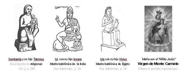 Semiramis, Nimrod, Tamuz y su parentesco con María y Jesús ¿Quien recibe realmente tus plegarias?     En el año 3000 AC., en Babilonia ...