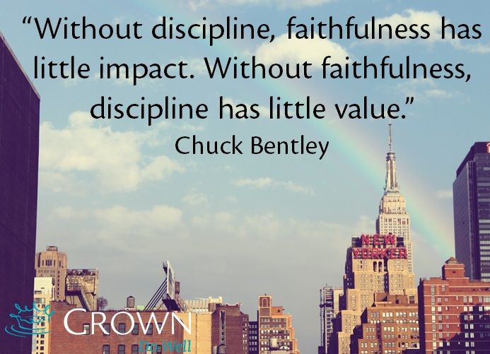 In our relationship with God, discipline and faithfulness are key factors.