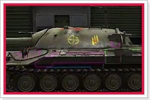 В данном моде находятся контурные зоны пробития большинства танков WoT, но к сожалению не все.
