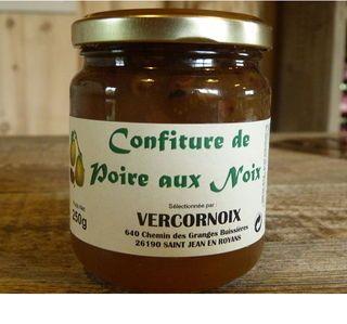 Confiture de poires aux noix 250 gr