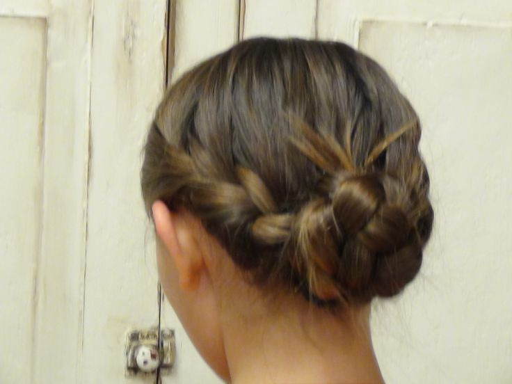 Double French Braid Messy Bun (Similar to Katniss hair at the Reaping) | Boys and Girls Hair Styles