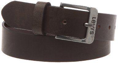 Levis Belt Leather Belt Dark Brown Brown gratuito, gürtel länge:105 cm: Amazon.it: Scarpe e borse