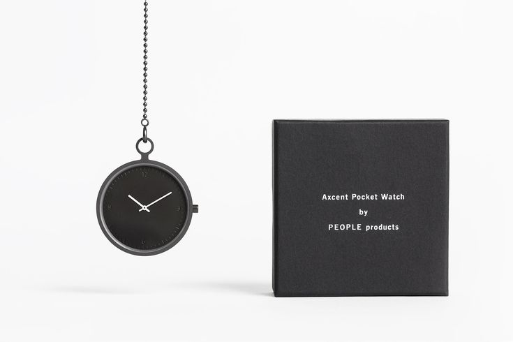 Axcent Pocket Watch (dark gray) - PEOPLE Products